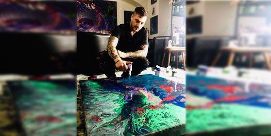 Laurin Levai kam durch die Corona-Pandemie zu seiner Kunst.