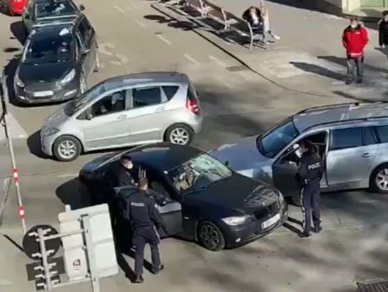 BMW-Crash auf der Koppstraße in Ottakring.
