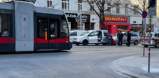 In der Hütteldorferstraße krachte es am Montagnachmittag.