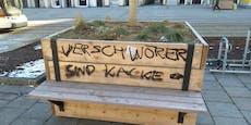 Schmierereien in Linz: Verfassungsschutz ermittelt