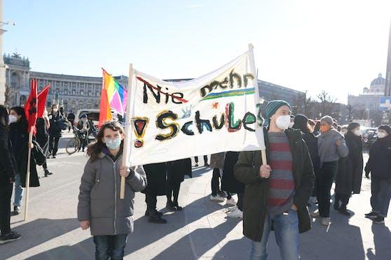Schüler-Demo in der Wiener Innenstadt. Archivbild.
