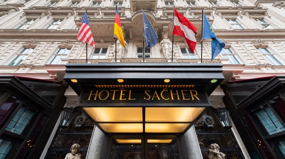Das Hotel Sacher in Wien bleibt weiterhin für Gäste geschlossen.