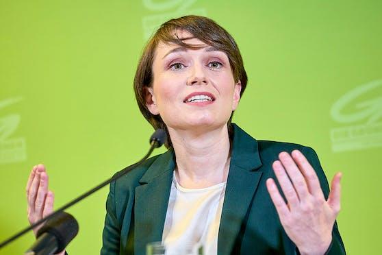 Klubobfrau Sigi Maurer bei ihrer Pressekonferenz am Dienstag, 16. Februar 2021