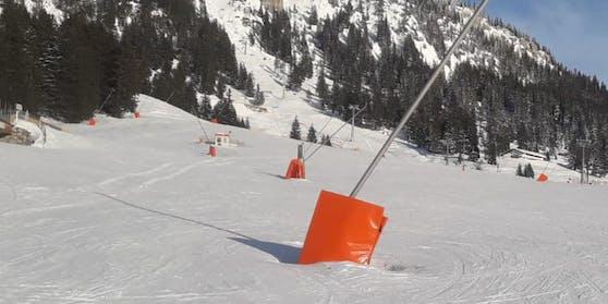Die Pisten sind nah Bekanntgabe der Ski-Verordnung menschenleer.
