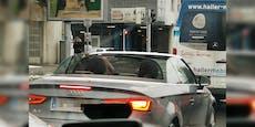Audi cruist bei -1°C mit offenem Verdeck durch Wien
