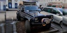 Tuning-Lenker hält DAS für einen Jeep-Parkplatz