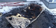 Pfarrer warf brennende Matratze aus dem Fenster