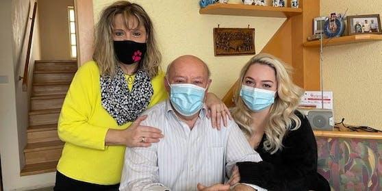 Josef P. mit Tochter Andrea und Enkelin Melanie