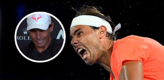 Rafael Nadal musste seine Pressekonferenz abbrechen.