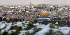 "Wintersturm in Israel: Jerusalem ""versinkt"" im Schnee"