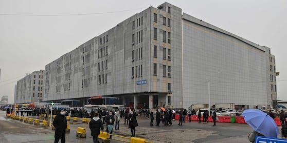 Der Baishazhou Markt in Wuhan, Hubei.
