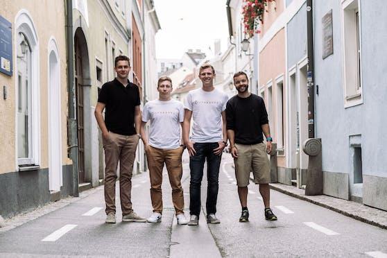 Lukas Forsthuber, Maximilian Welzenbach, Bernhard Bocksrucker und Simon Scheutz (v.l.) stehen hinter dem Start-Up Afreshed.