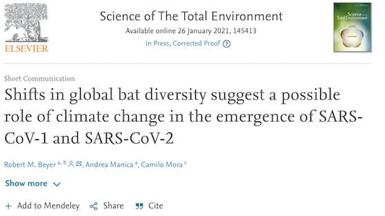 Wie das Team in einer Studie nachgezeichnet hat, haben die klimatischen Veränderungen der letzten 100 Jahre womöglich eine wichtige Rolle bei der Entstehung von Covid-19 gespielt.