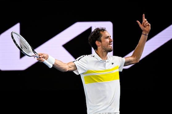 Daniil Medwedew steht im Finale der Australian Open.
