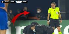 Bei Europa-League-Spiel: Ein Pizzalieferant im Stadion?
