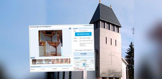 Die Pfarrgemeinde Rosenau verkauft ihre Kirchenorgel um 37.900 Euro auf willhaben.