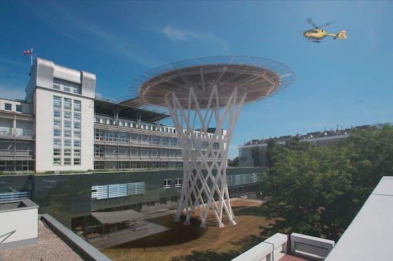 Visualisierung der neuen Hubschrauberlandeplattform