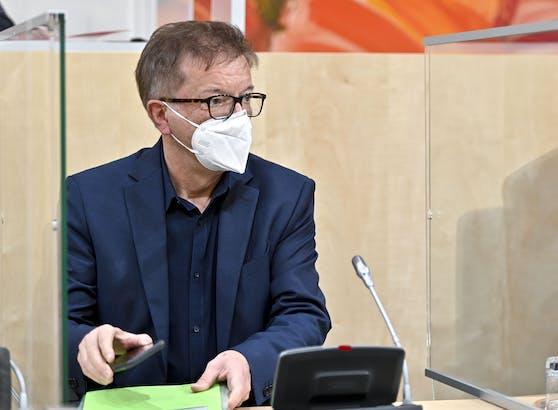 Gesundheitsminister Rudolf Anschober (Grüne) im Rahmen eines Hauptausschusses des Nationalrats