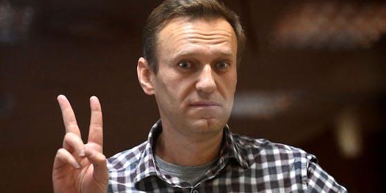 Alexei Nawalny war im Februar 2021 zu zweieinhalb Jahren Haftlager verurteilt worden.