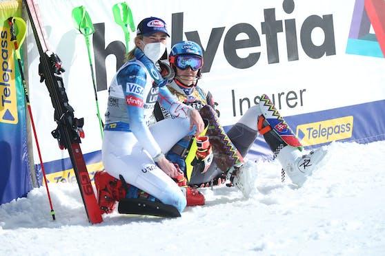 Mikaela Shiffrin zeigte sich nach Bronze im Slalom emotional.
