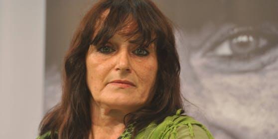 Christiane Felscherinow auf der Frankfurter Buchmesse im Jahr 2013.