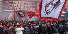 Tausende Fans feierten bei Mailänder Derby vor Stadion