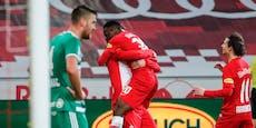 Klares 4:2! Salzburg hängt Rapid im Meisterrennen ab