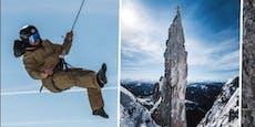 Waghalsiger Hirscher erklimmt nach Sturz Felswand