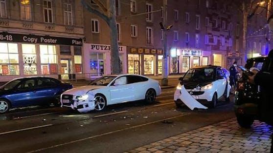 Böser Crash in Wien-Simmering