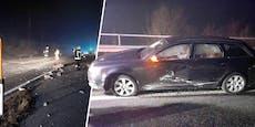 Tonnenschwerer Felsen stürzt herab, Auto getroffen