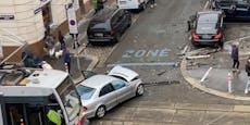 Heftiger Kreuzungs-Crash in Wien-Fünfhaus