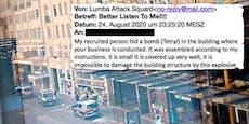 Straßen in Wien gesperrt – Bomben-Bande drohte 408 Firmen
