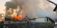 Videos zeigen verheerenden Brand in Perchtoldsdorf