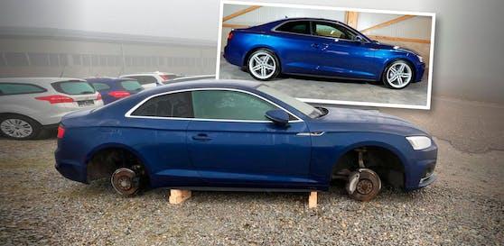 In der Nacht auf Dienstag wurden einem Autohaus in Suben bei Schärding von einem Audi Felgen gestohlen.