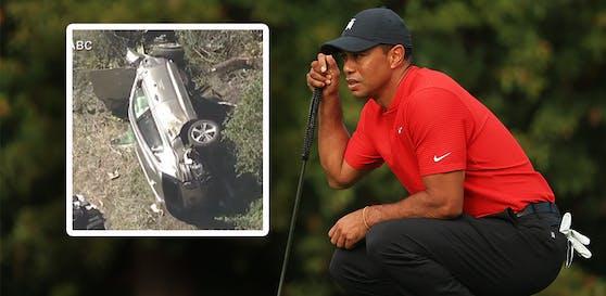 Tiger Woods ist in einen Verkehrsunfall verwickelt.