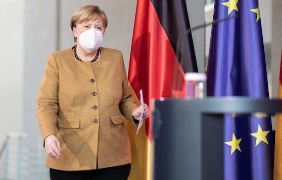 """Bundeskanzlerin Angela Merkel (CDU) wähnt Deutschland bereits in einer """"dritten Welle""""."""