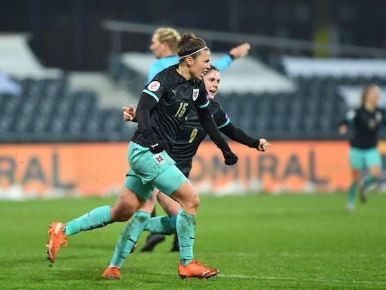 Jubel bei Österreichs Frauen-Nationalteam.