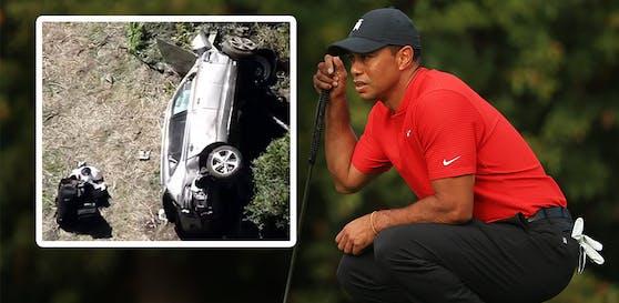 Tiger Woods wurde bei einem Autounfall an den Beinen verletzt.