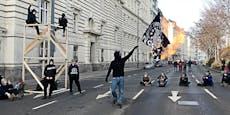 Mega-Stau in Wien wegen Antifa-Demo vor der Polizei