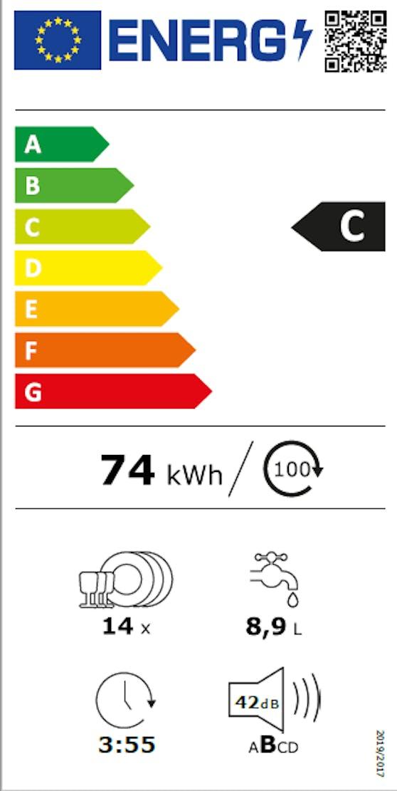 Das neue Energielabel: Beispiel anhand eines Geschirrspülers.