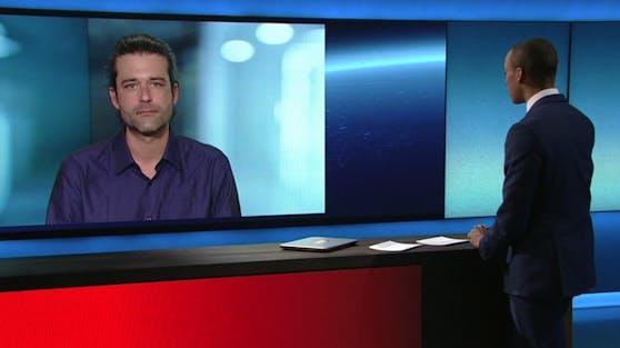 "Ramin Nikzad in der ""ZIB Nacht"" am 22. Februar 2021"