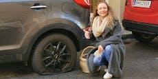 Sängerin Niddl wurden drei Mal Nägel in Reifen gerammt