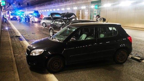 Verkehrsunfall auf der A12 bei Innsbruck.