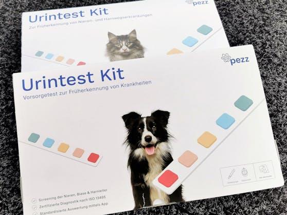 Die Pezz life Urintest-Kits gibt es für Hunde und Katzen.
