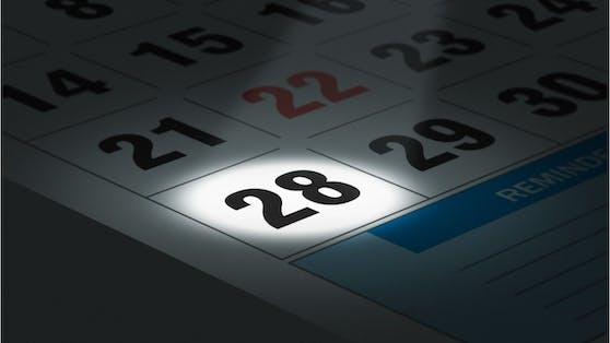 Der 28. ist der letzte Tag im Monat Februar.