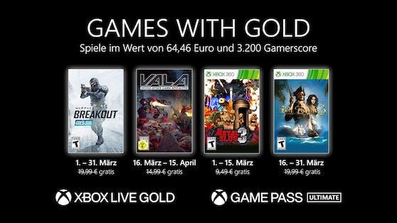 Games with Gold: Diese Spiele gibt es im März gratis.