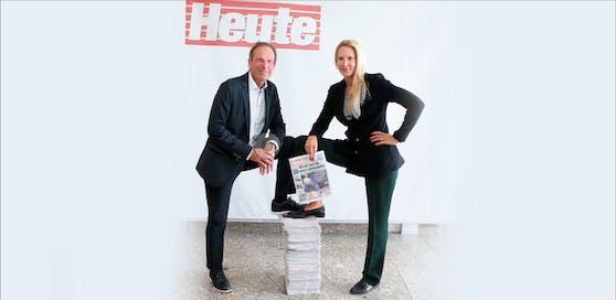 """Die """"Heute""""-Chefs Eva Dichand und Wolfgang Jansky"""
