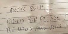 Mann veröffentlicht peinlichen Brief seiner Nachbarn