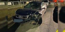 18-jähriger Wiener knallte mit Audi A6 gegen Leitplanke