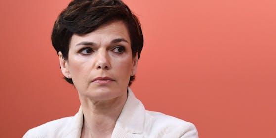 SPÖ-Vorsitzende Pamela Rendi-Wagner bei einer Pressekonferenz am 22. Februar 2021
